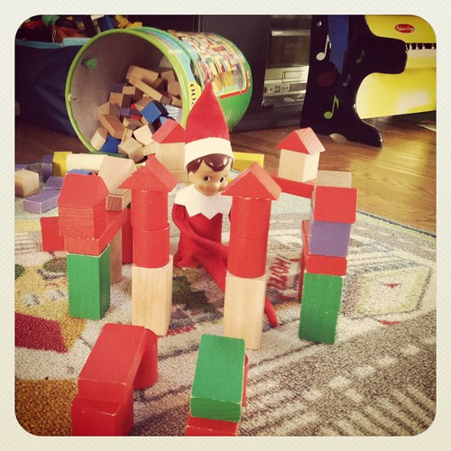 Dec 2- Elf Playing with Blocks