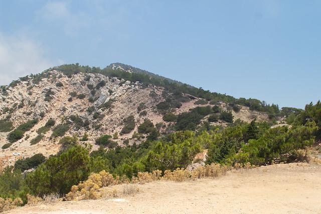 Monolithos. View on mountains