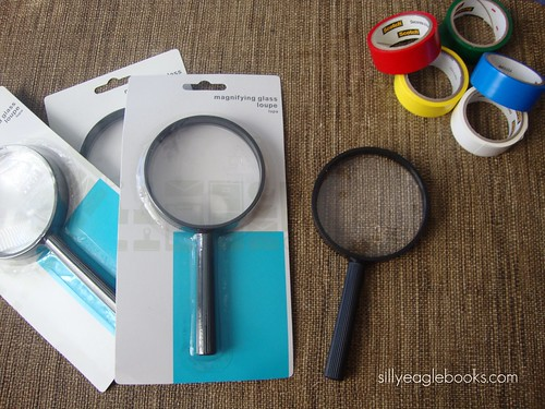 DIY decorating magnifying glass