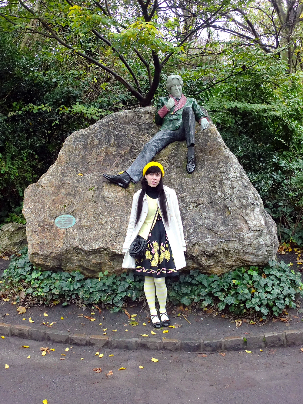 Oscar Wilde Memorial at Merrion Square Park - Dublin, Ireland.