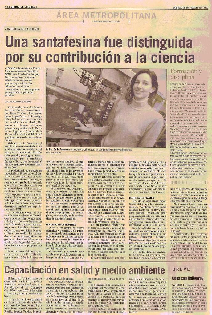 Diario El Litoral (Santa Fe) 25-08-07