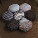 Bee Keeper's Quilt: tree bark grey honeycomb