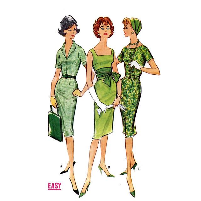 McCalls 4956 50s wiggle dress