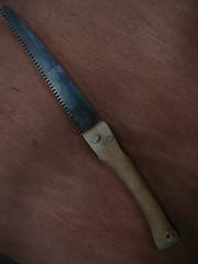 Hazel handle Silky saw