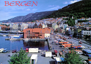 Bergen - Old Harbor Area (Postcard)
