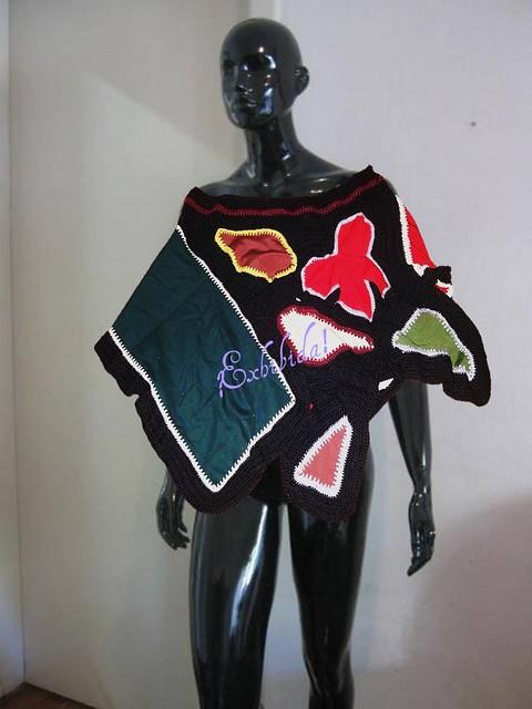 Linda Capa Poncho Pollera tejido al Crochet multi colores! | Flickr