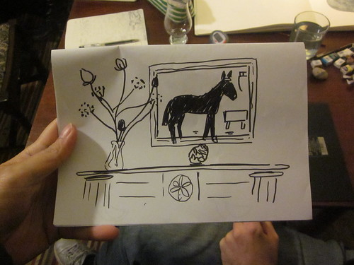 Simon drew our living room.