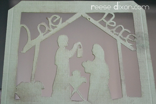 Papercut Nativity Tree Tutorial Step 2