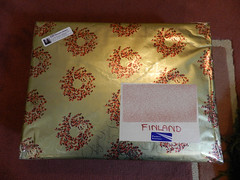 Christmas parcel to Finland