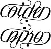 """Aiden"" & ""Niko"" Ambigram A custom ambigram"