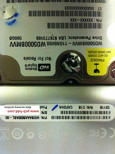 DATA RECOVERY WD5000BMVV-11GNWS0 WDBAAA5000ASL-00