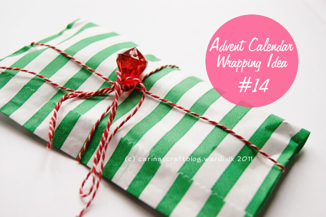 Advent Calendar Wrapping Idea #14