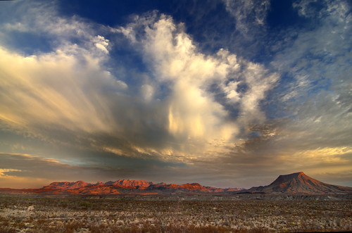 The Chisos Mountains in Big Bend National Park, Texas