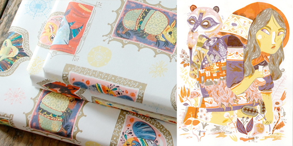 Meg Hunt prints and wrapping paper