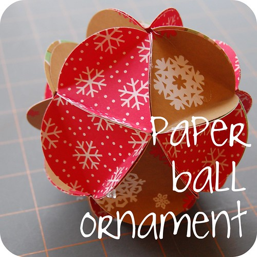 Diy paper ball ornament tutorial do it yourself paper ball ornament solutioingenieria Choice Image