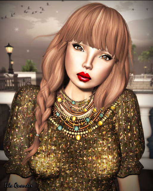 -Glam Affair- Linn MedTan - BL HB 07 & (Kunglers Extra) Masai - Necklace - copper