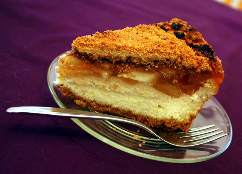 Apple Crisp Cheesecake slice