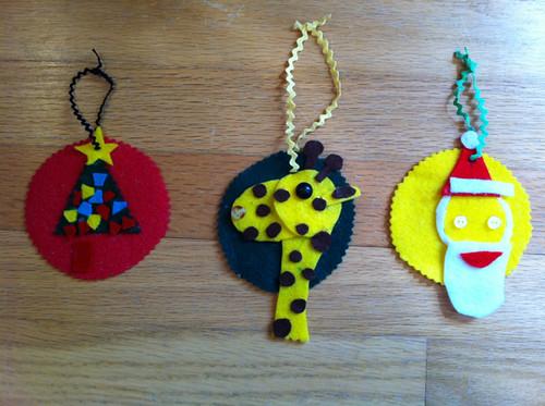 Kirin's felt ornaments