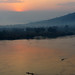 sunrise on Obangui River