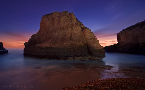 Shark Fin Cove by Twilight