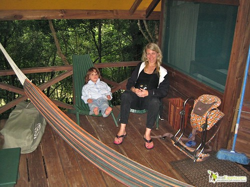 Glamping in Belize - Macal River Camp Hotel Review - private porch