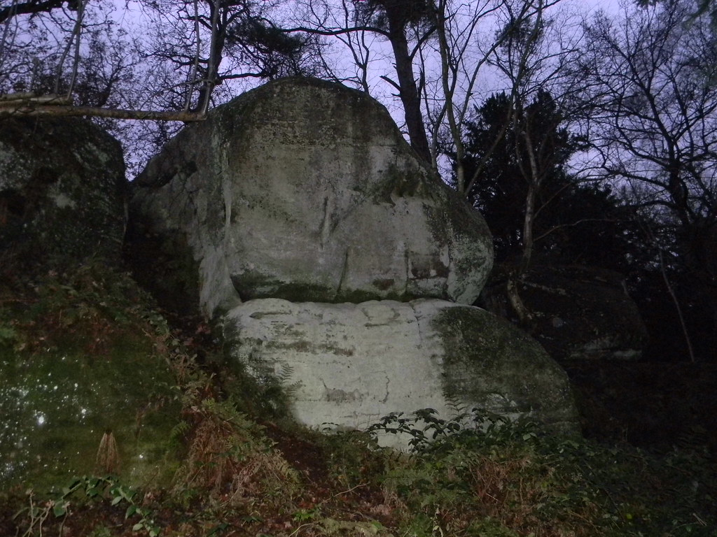 Eridge Rocks Night had fallen. Eridge Short Circular out via Harrisons Rocks