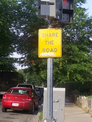 Share the Road sign, Columbia Heights