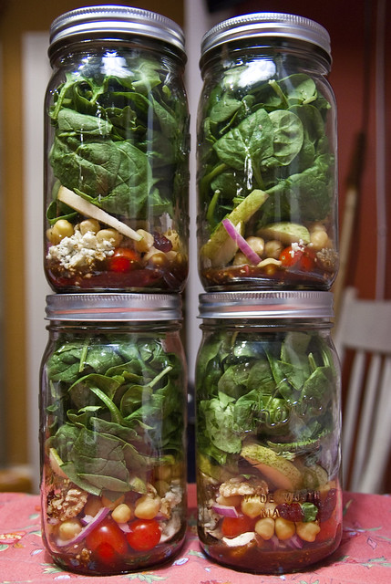 salad in a jar x4