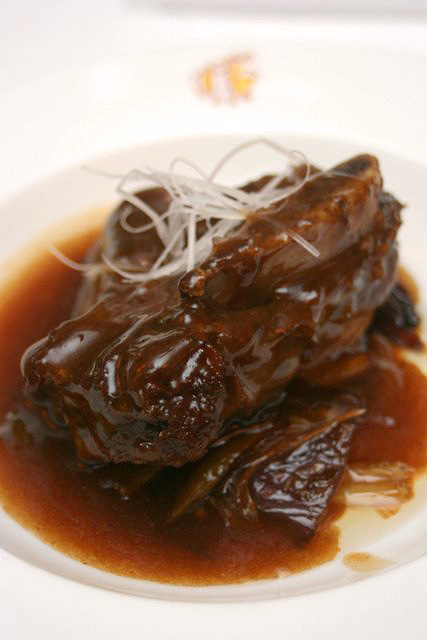 Braised Wagyu Short Rib with Onions, Peking Scallions and Spring Onions