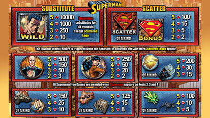 free Superman slot mini symbol