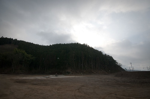 The hill behind Okawa Elementary School