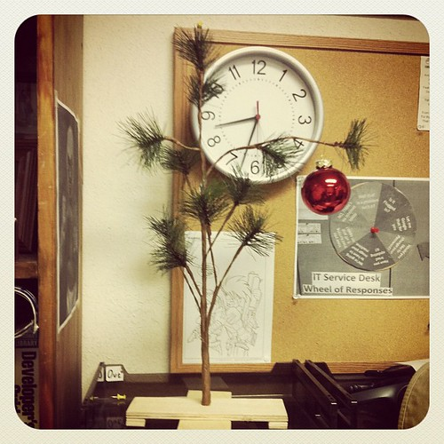 My office Christmas tree. It's what Christmas is all about Charlie Brown.