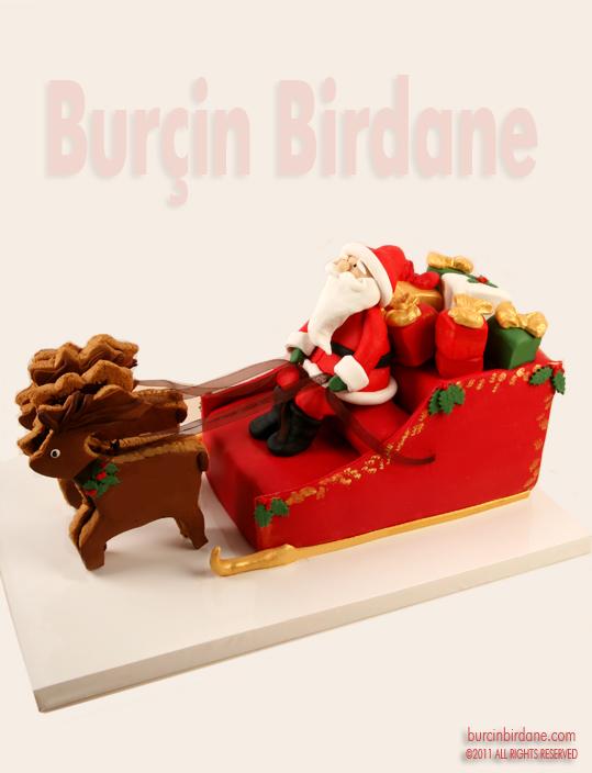 Santa Sleigh Cake