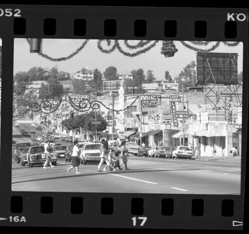 Street scene along Sunset Blvd in Echo Park, 1988