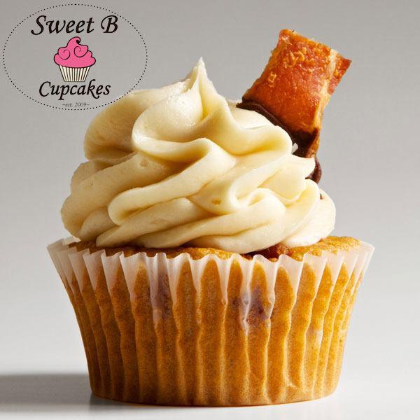 "Chocolate Affair cupcake: ""Maple buttermilk pancake cupcakes w/ maple ..."