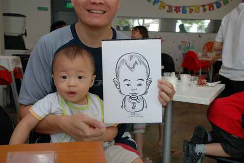 caricature live sketching for birthday party 2nd Oct 2011 - 8