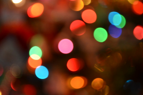 Christmas eve bokeh