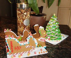 birthday cake(0.0), gingerbread house(1.0), christmas decoration(1.0), gingerbread(1.0), food(1.0), christmas(1.0),