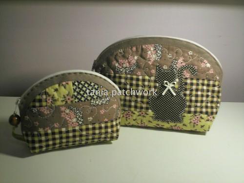 Conjunto Necessaire P e mini Gatinho by tania patchwork