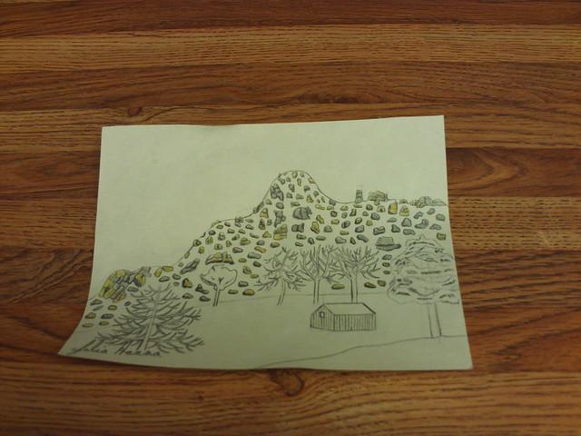 Drawing of the Pinnacles