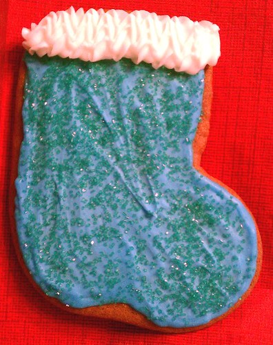 Stocking - Blue w/ Green Sprinkles