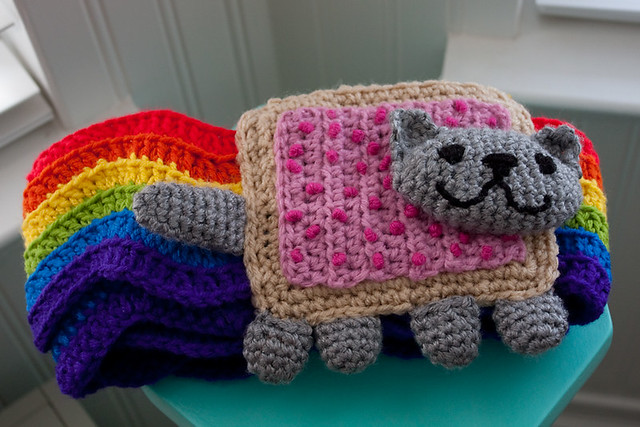 Nyan Cat Scarf Crochet Pattern Free : Sew I See!: Christmas Project Wrap-Up