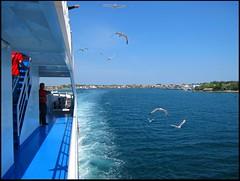 LEAVING KERAMOTI FOR THASSOS ISLAND. GREECE.