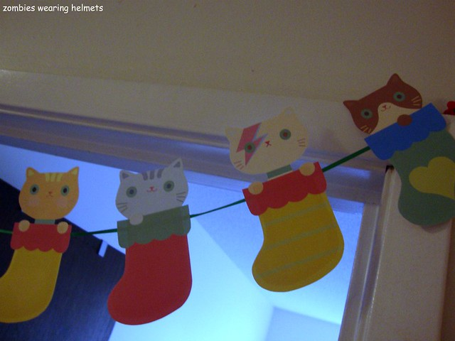 kitty sock garland