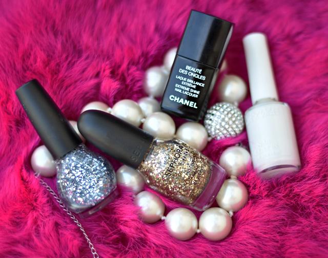 glitter nail polish - pink fur - glitter-nails-manicure