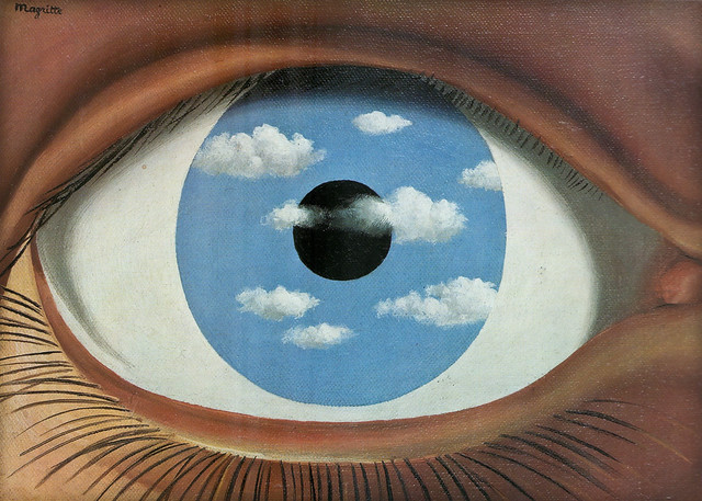 M ren magritte le faux miroir the false mirror for Rene magritte le faux miroir