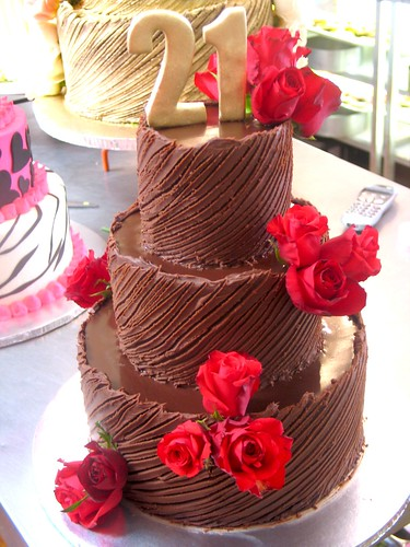 3 Tier Wicked Chocolate 21st Birthday Cake Iced In Spanish Textured Ganache Decorated With