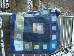 Completed quilt - front