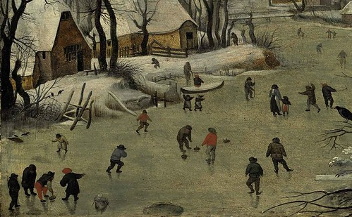 [ B ] Pieter Brueghel - Winter Landscape with a Birdtrap (1565) - Detail 825 by Cea.