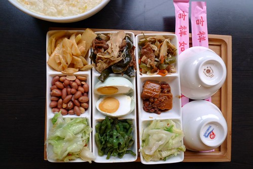 Vegetarian Breakfast - Fenqihu Hotel - Fenqihu, Taiwan